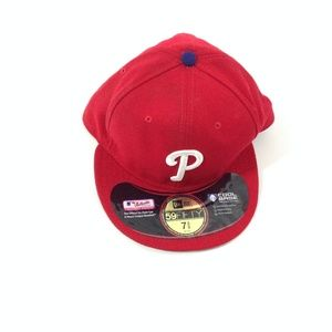 Major League Phiphi Men's Red Baseball Hat 7 3/8